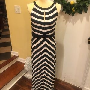 White House Black Market Striped Halter Maxi Dress